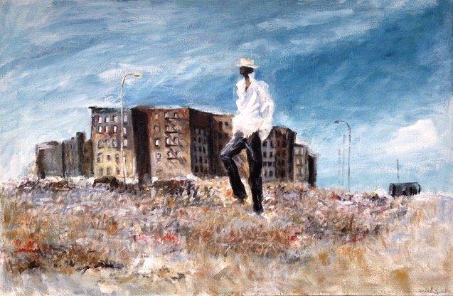Urban African American Oil Painting, N.Y.C