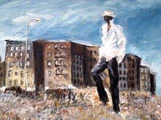 Urban African American Oil Painting, N.Y.C - 3