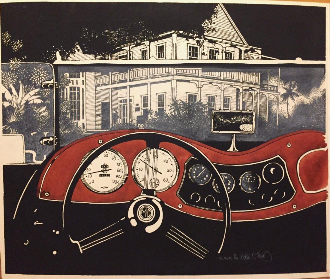 American 1952 MG Convertible, Mixed Media, Rocky Ferris