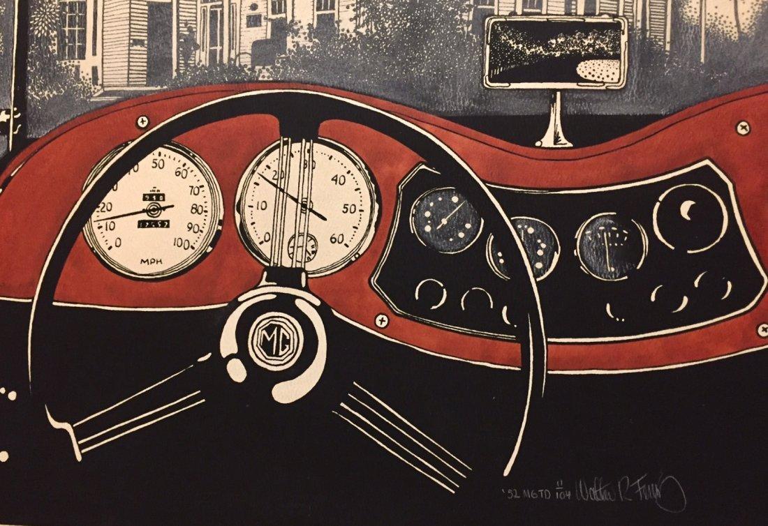 American 1952 MG Convertible, Mixed Media, Rocky Ferris - 3