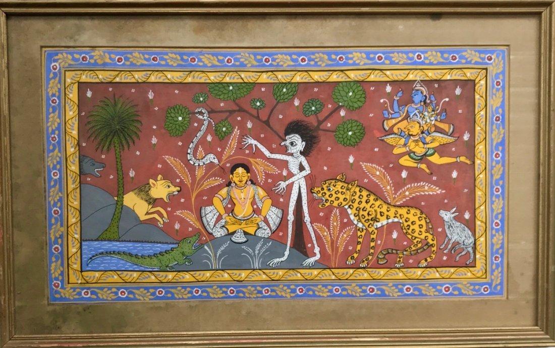 Indian School, Patachitra Painting, Orissa India