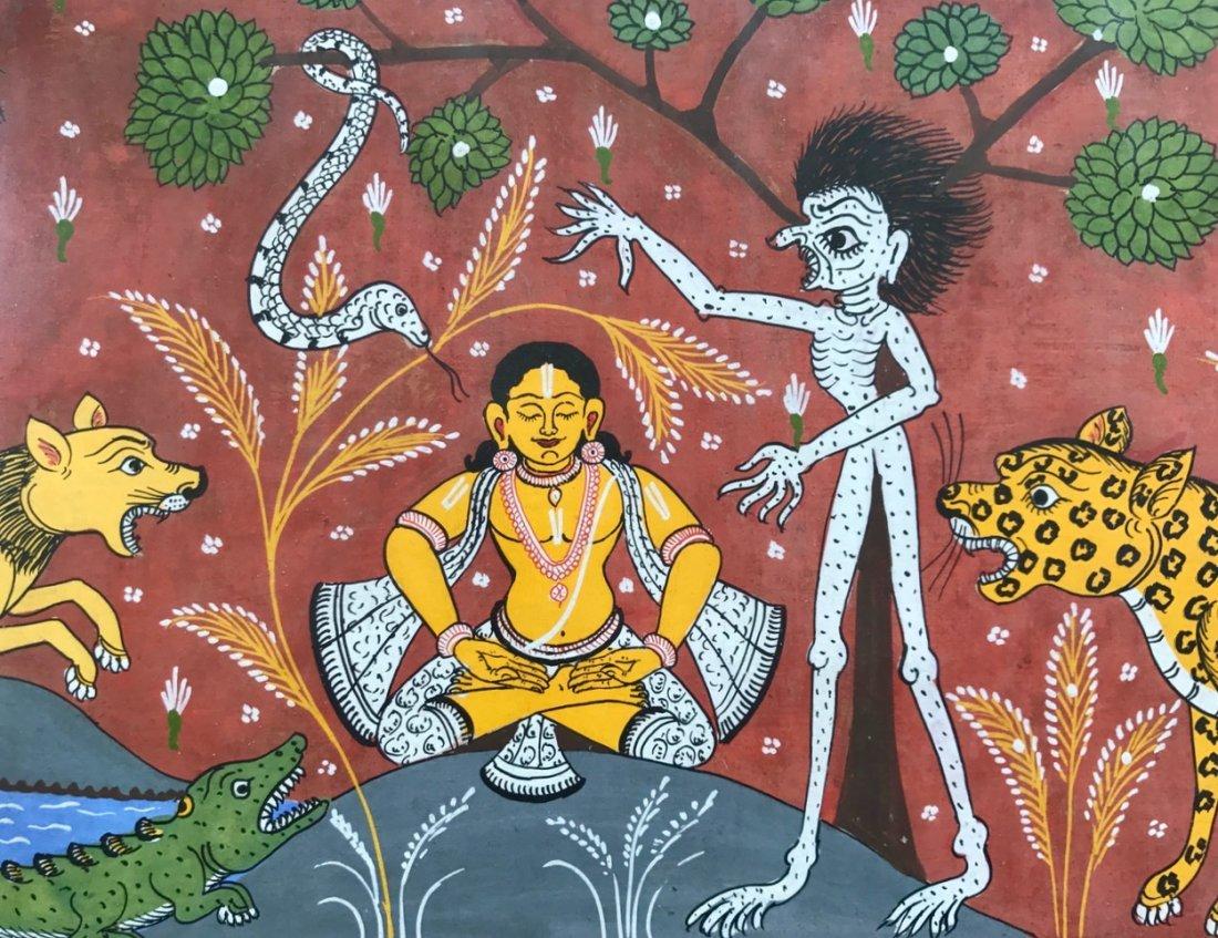 Indian School, Patachitra Painting, Orissa India - 2