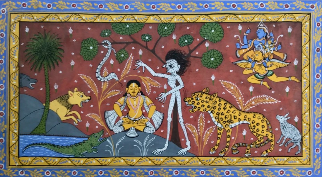 Indian School, Patachitra Painting, Orissa India - 3