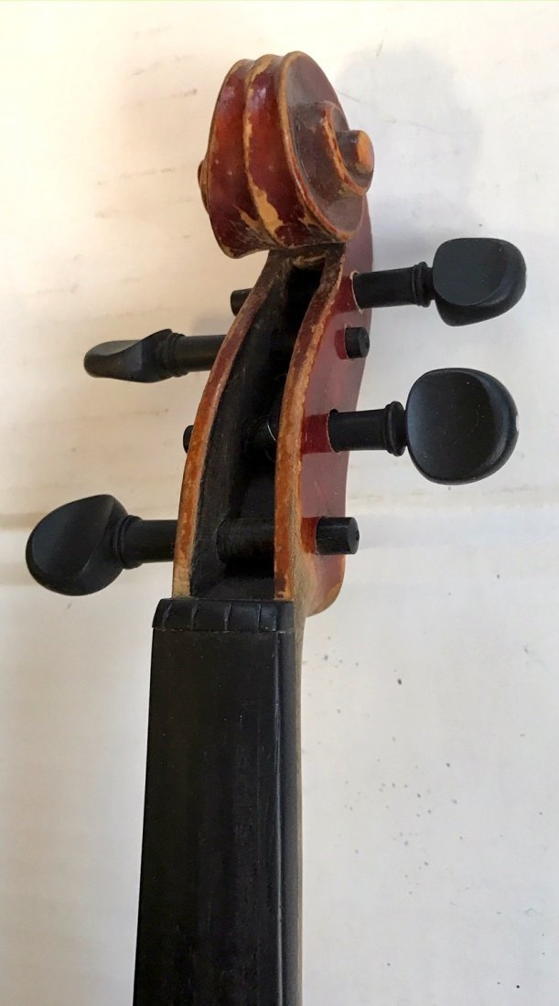 Antique Violin With R.F. Hoyer Bow & Case - 6