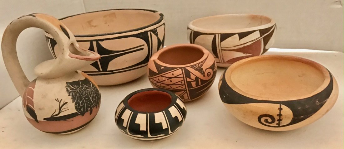 American Indian Pottery Pieces Including Vidal Aguilar