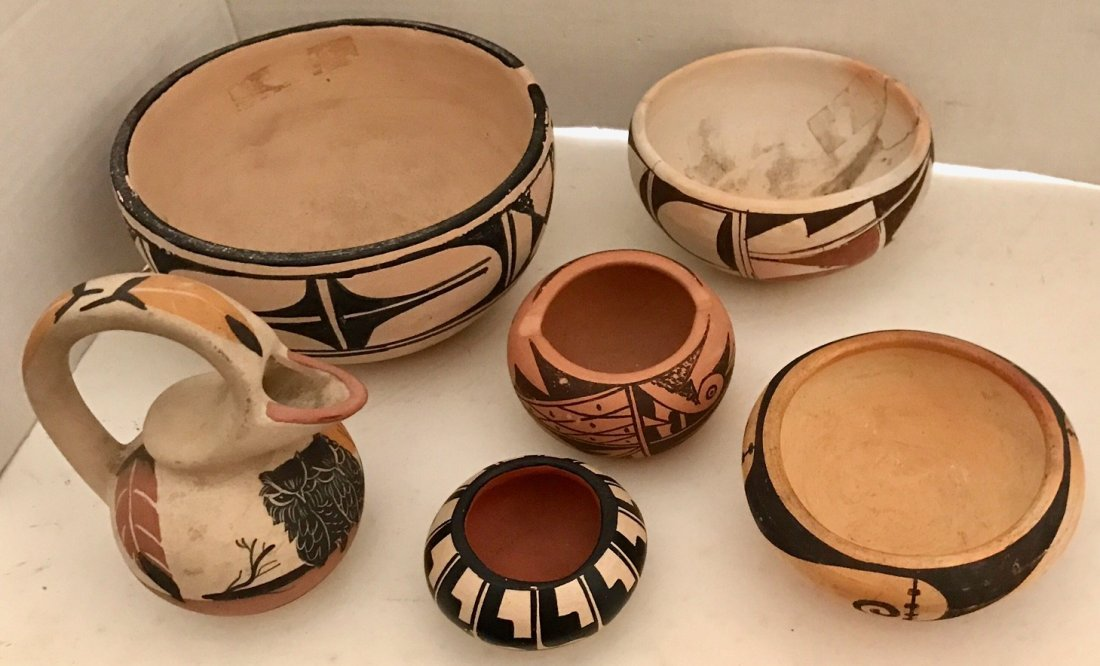 American Indian Pottery Pieces Including Vidal Aguilar - 3