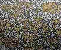 """LA II (Angel Ortiz b.1966)Urban Graffiti Painting """"BTW"""""""