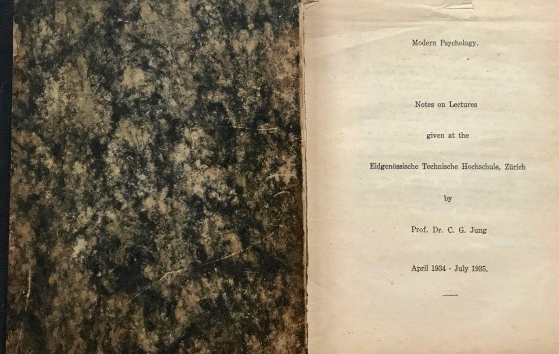 Carl Jung, E.T.H. Lectures 1934-35, Private Circulation