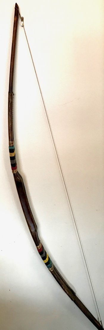 American Indian Beaded Bow & Arrows - 3