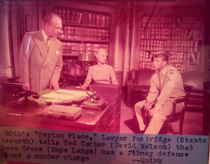 Peyton Place 1953 Camera Negatives, J.Mitchell (24) - 8