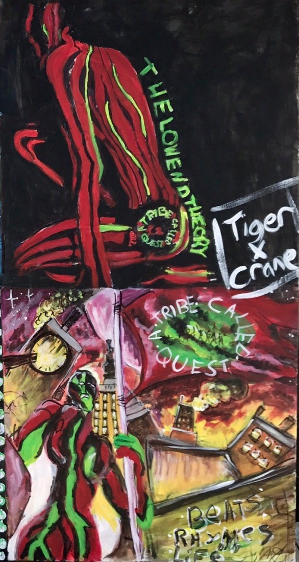 A Tribe Called Quest Original Hip-Hop Album Cover Art - 2