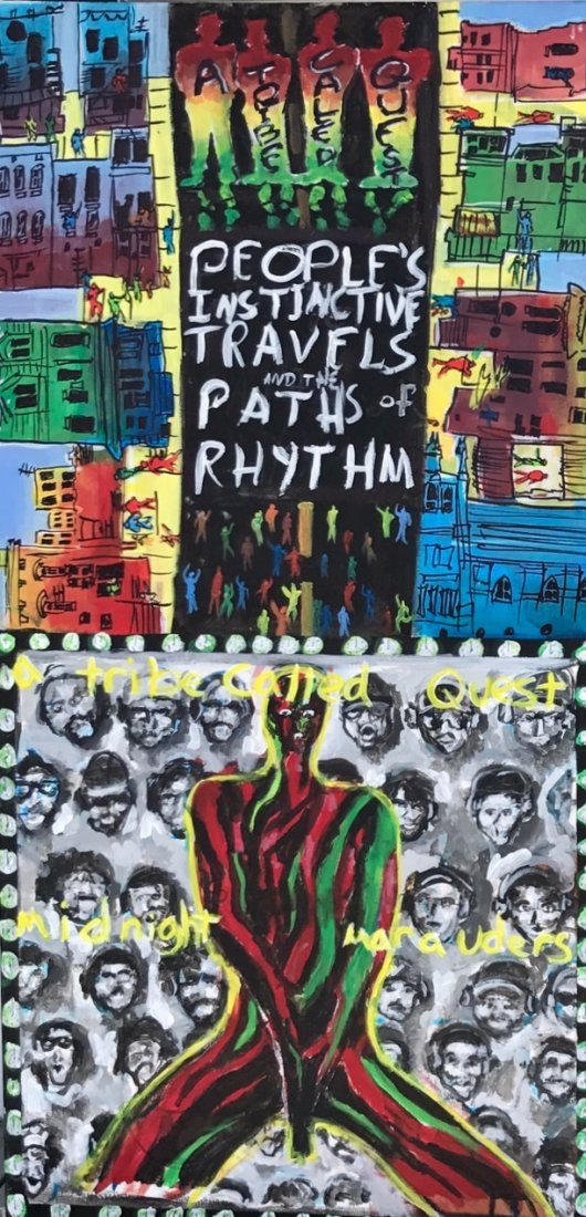 A Tribe Called Quest Original Hip-Hop Album Cover Art - 3