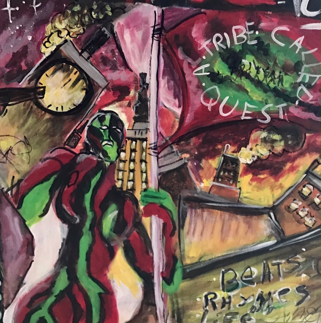 A Tribe Called Quest Original Hip-Hop Album Cover Art - 4