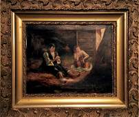 19th C. Continental School Oil Painting, J. Rolins