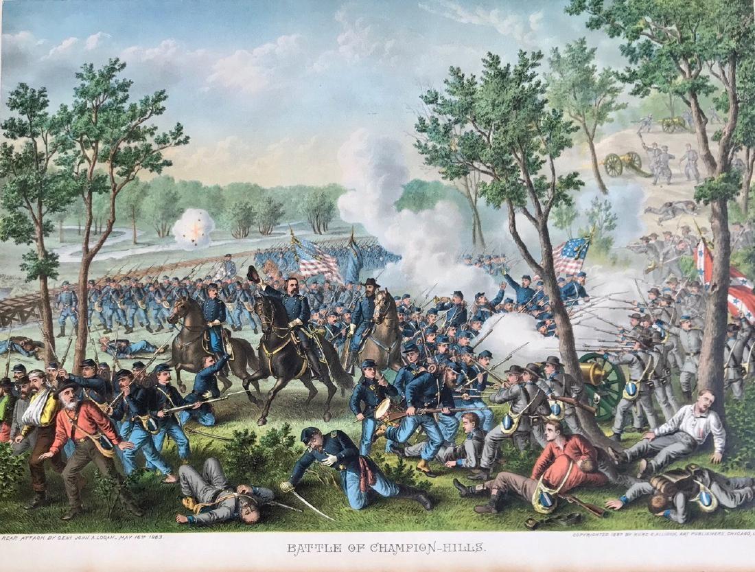 Battle Of Champion-Hills, Kurz & Allison,1887