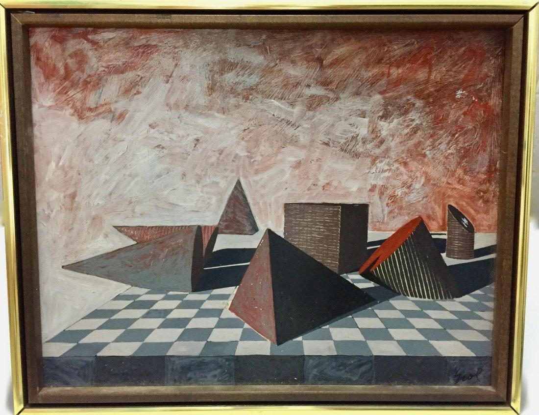 Erol Akyavas (Turkish, b.1932-1999) Pyramid Landscape