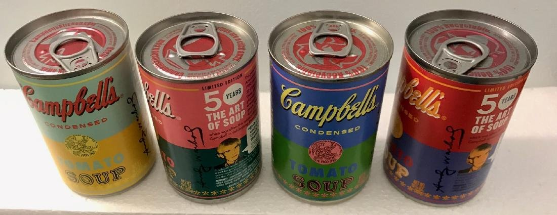 """Andy Warhol Campbell """"The Art of Soup"""" Cans - 2"""