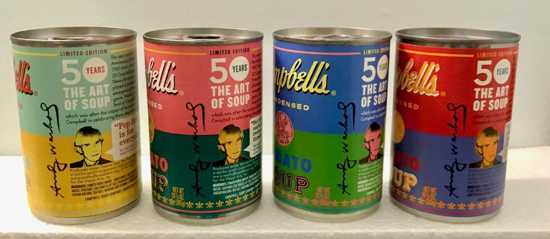 """Andy Warhol Campbell """"The Art of Soup"""" Cans - 3"""