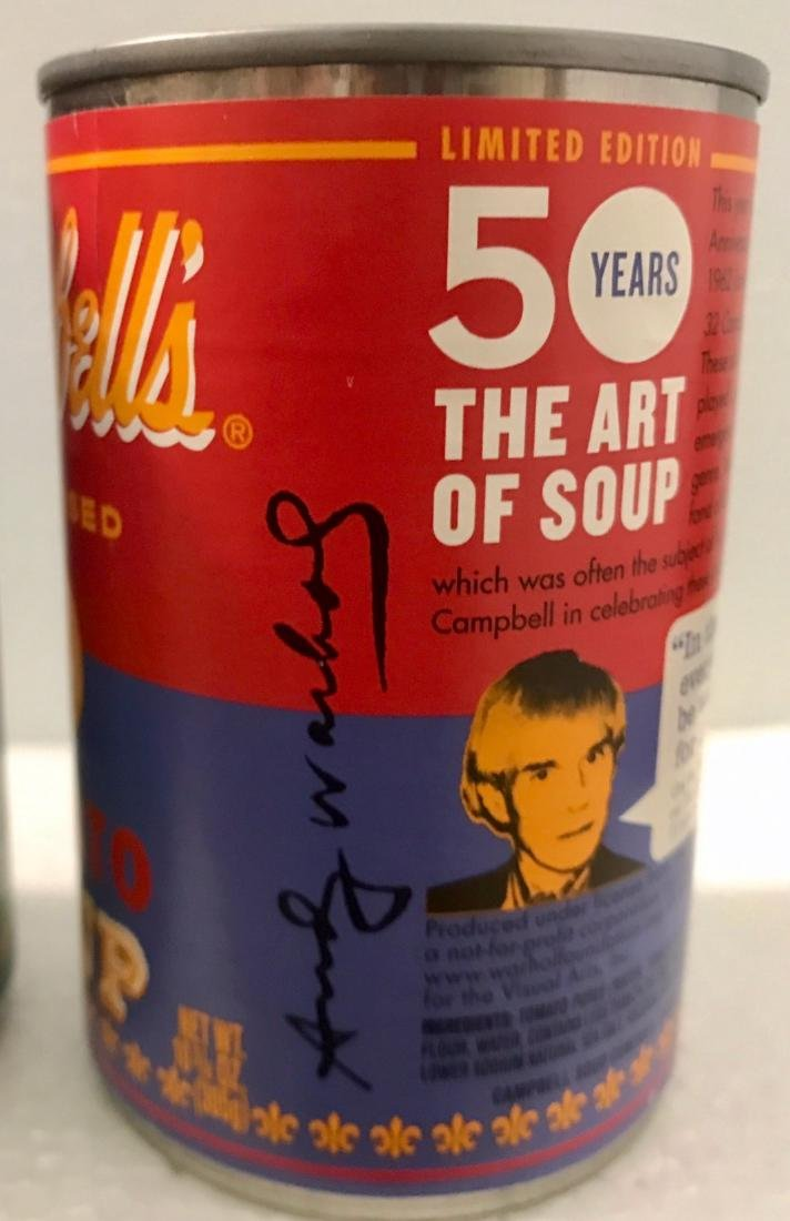 """Andy Warhol Campbell """"The Art of Soup"""" Cans - 4"""