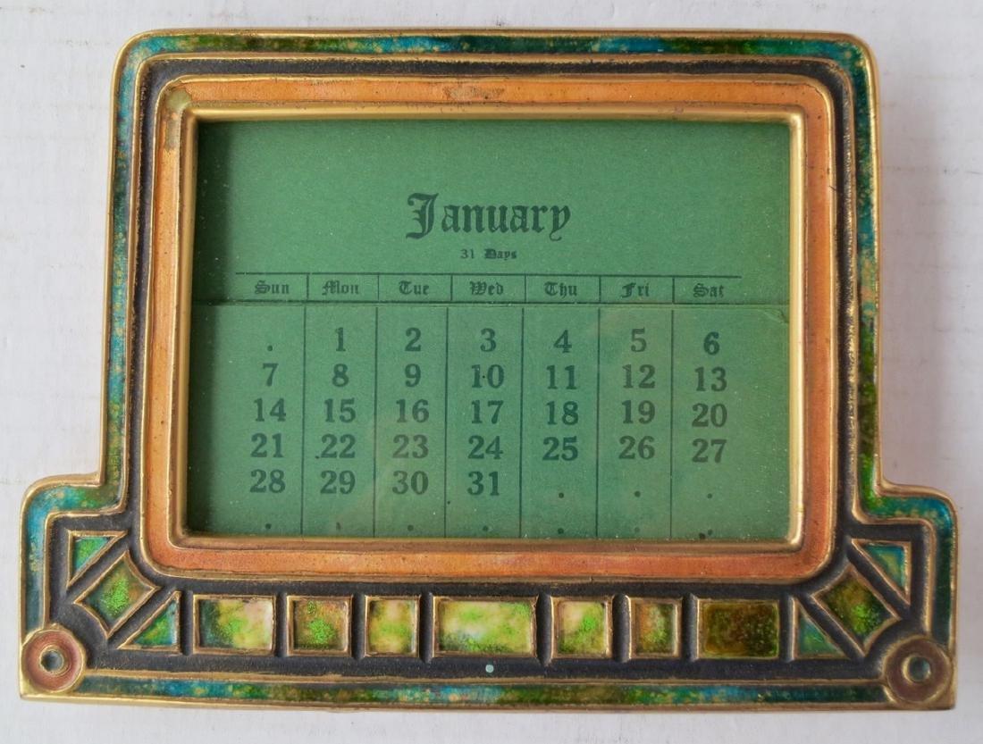 Tiffany Studios Furnaces Enameled Calendar Frame #356