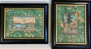 Two Japanese Ukiyoe Woodblock Prints