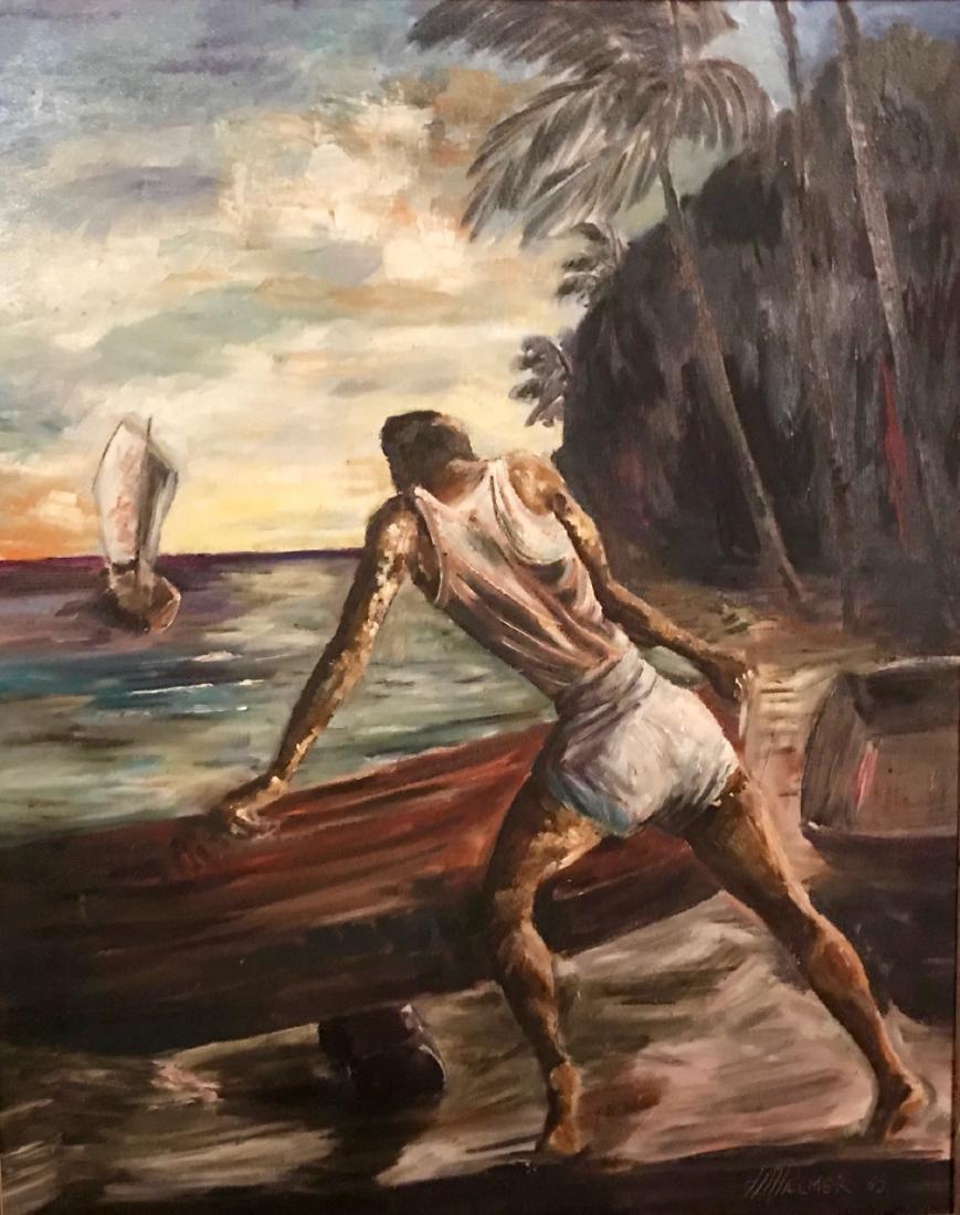 "H. A. Palmer Painting ""Falmouth Jamaica"""