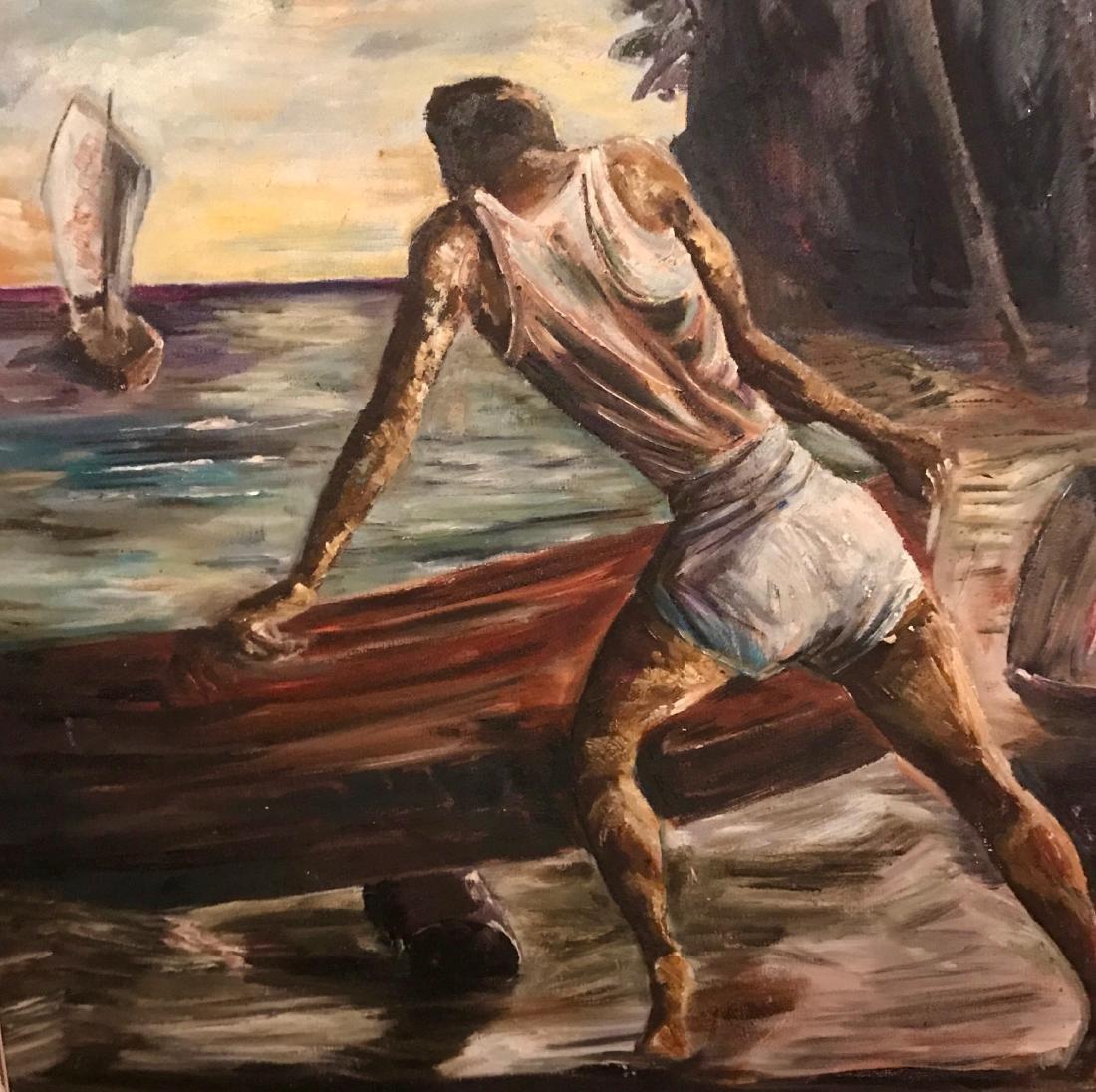 "H. A. Palmer Painting ""Falmouth Jamaica"" - 3"