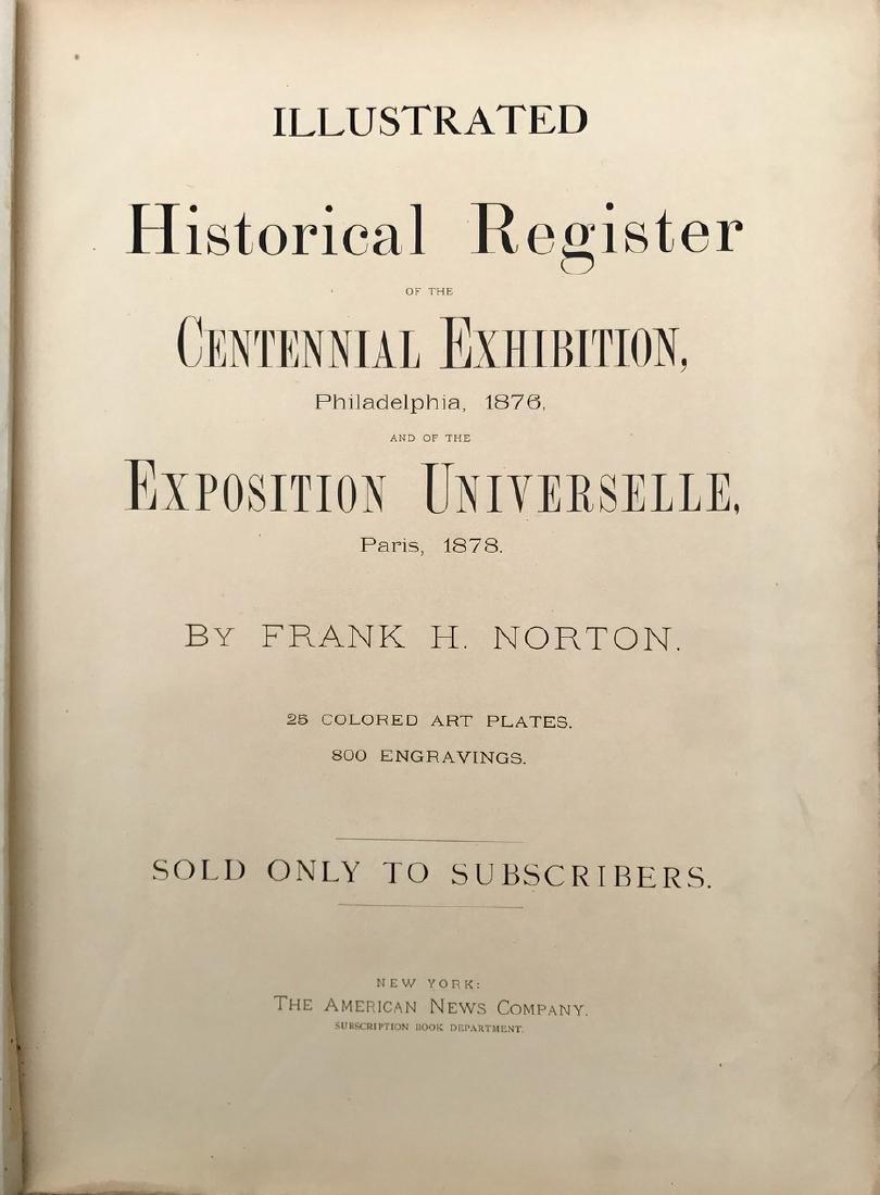 Historic Register Of The Centennial Exhibition, Norton - 3