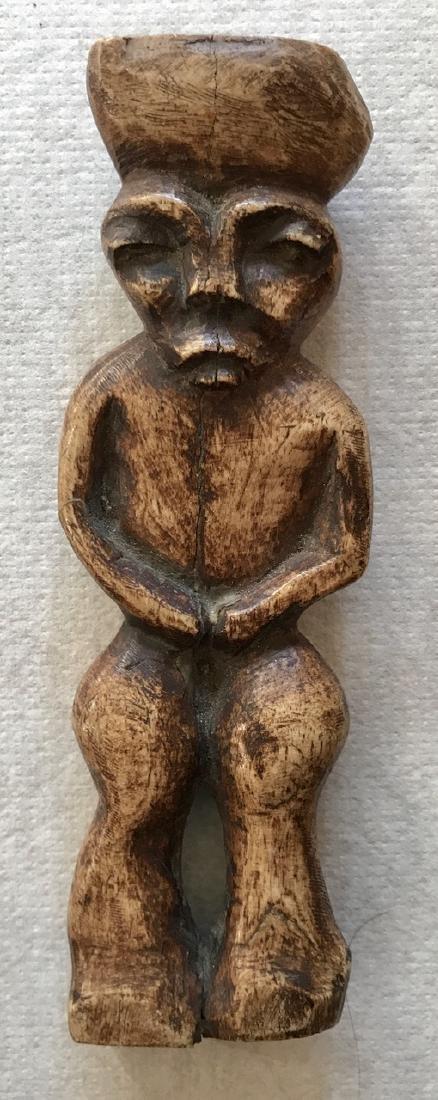 """Early Carved Ancestral Spirit Fetish, 8""""hgt."""