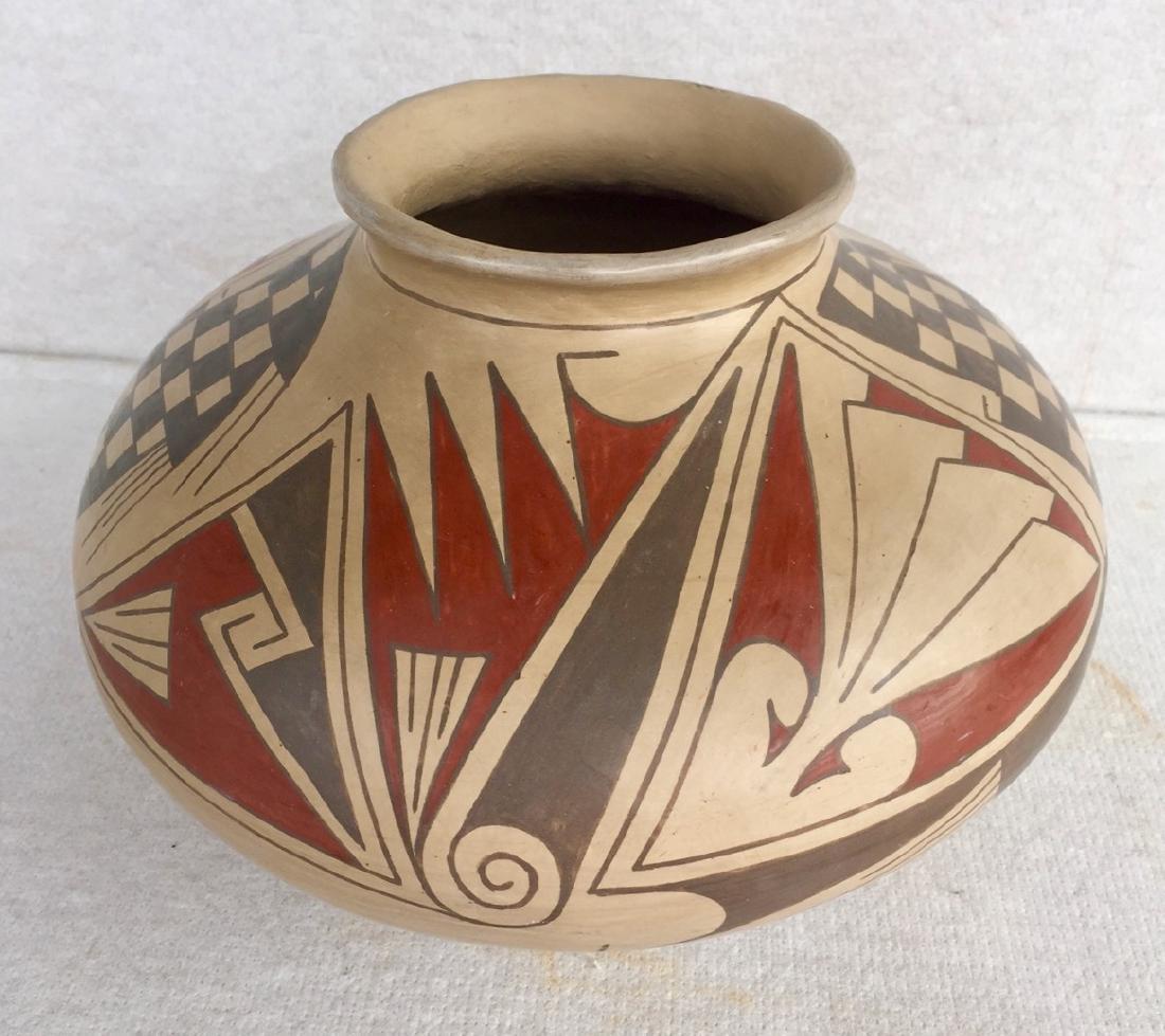 Mata Ortiz Polychrome Pottery Vessel, Quezada - 3