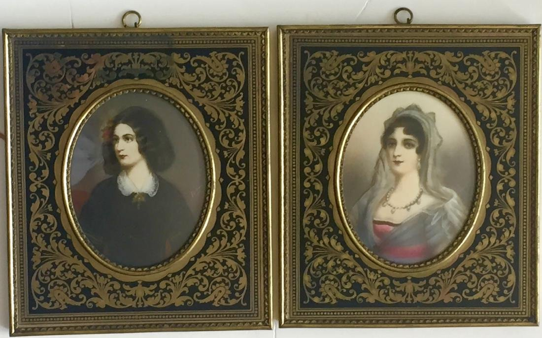 19th C. Miniature Paintings, E. Bonaparte & L. Montez