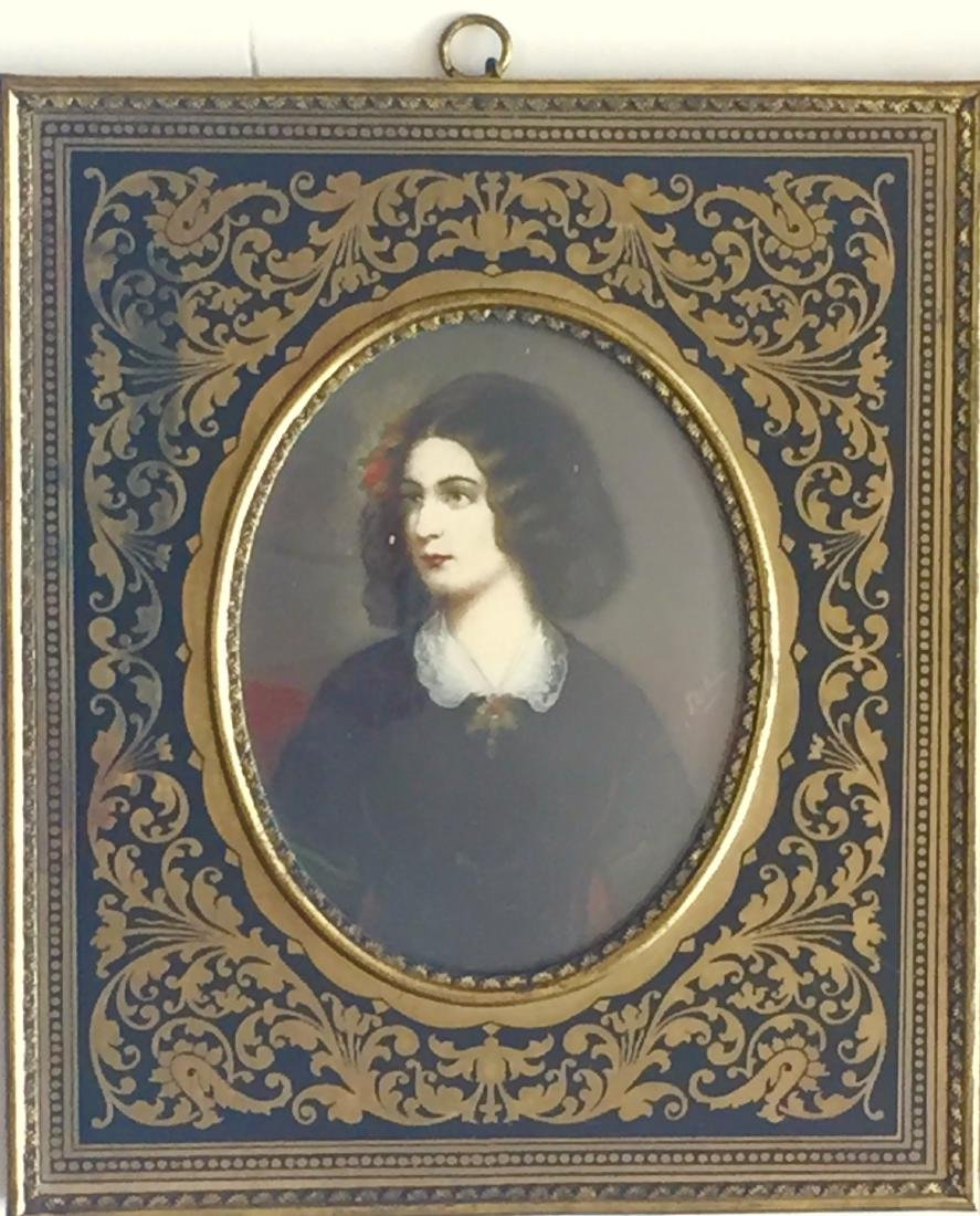 19th C. Miniature Paintings, E. Bonaparte & L. Montez - 2