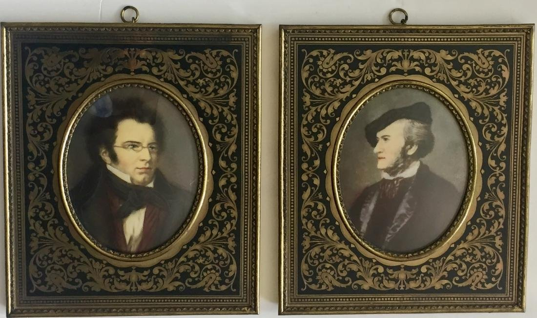 19th C. Miniature Paintings, Wagner & Schubert