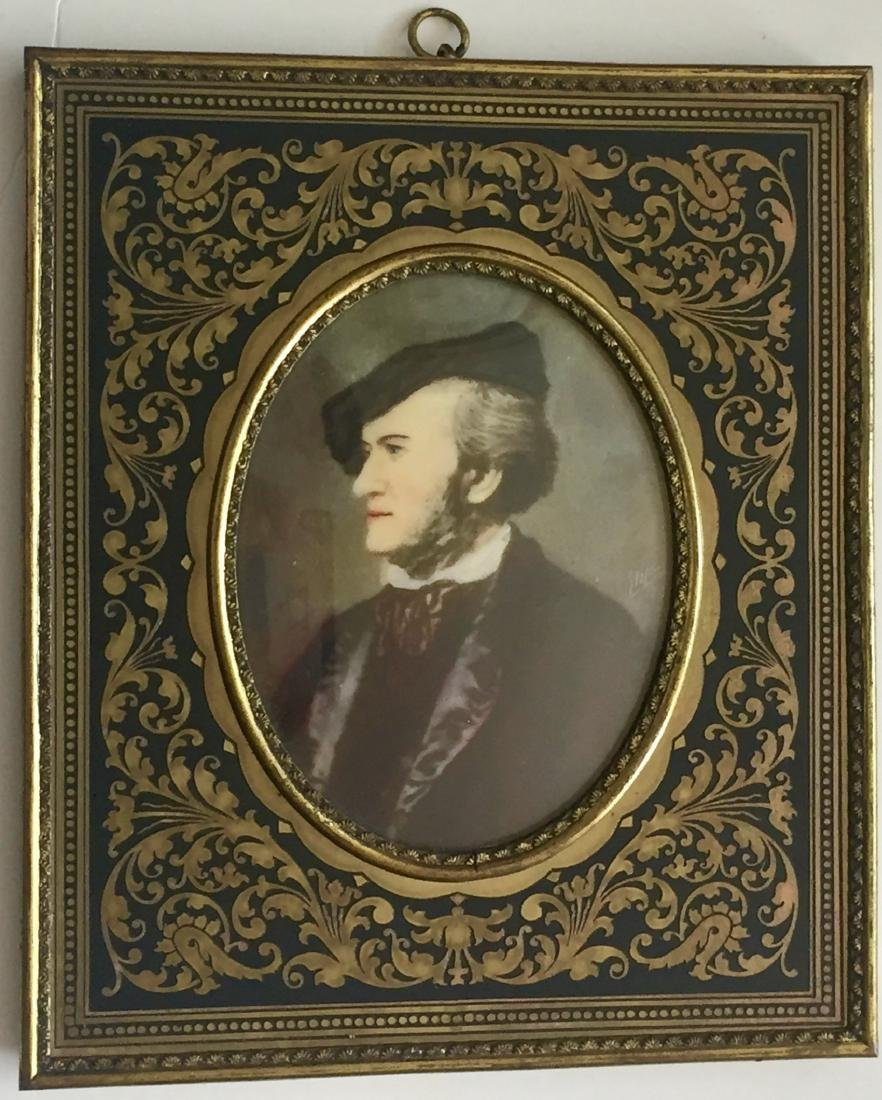 19th C. Miniature Paintings, Wagner & Schubert - 4