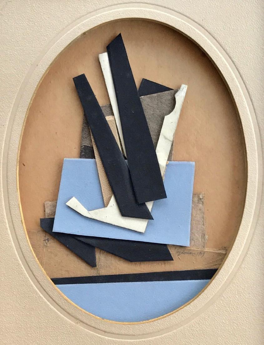 Alain Le Yaouanc Constructive Composition Collage, 1979 - 4
