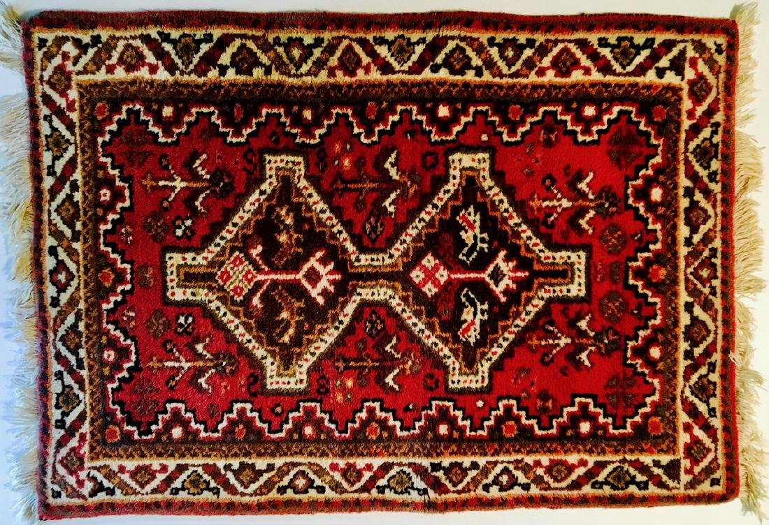 "Semi-Antique Hand Woven Persian Rug: 26"" x 38"""