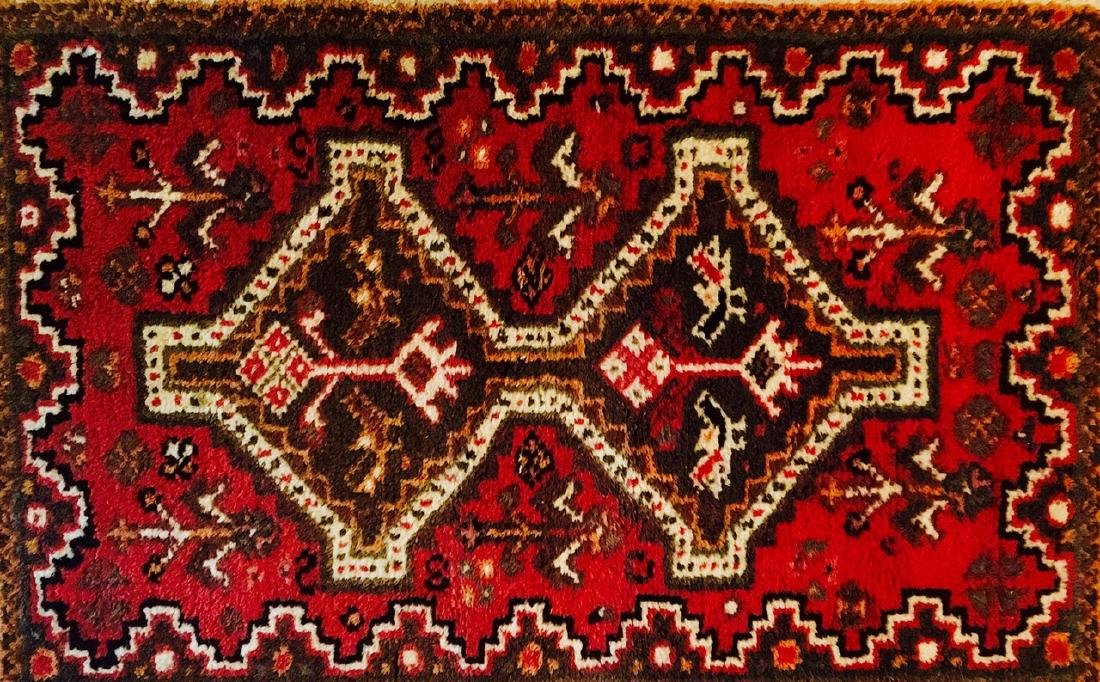 "Semi-Antique Hand Woven Persian Rug: 26"" x 38"" - 2"