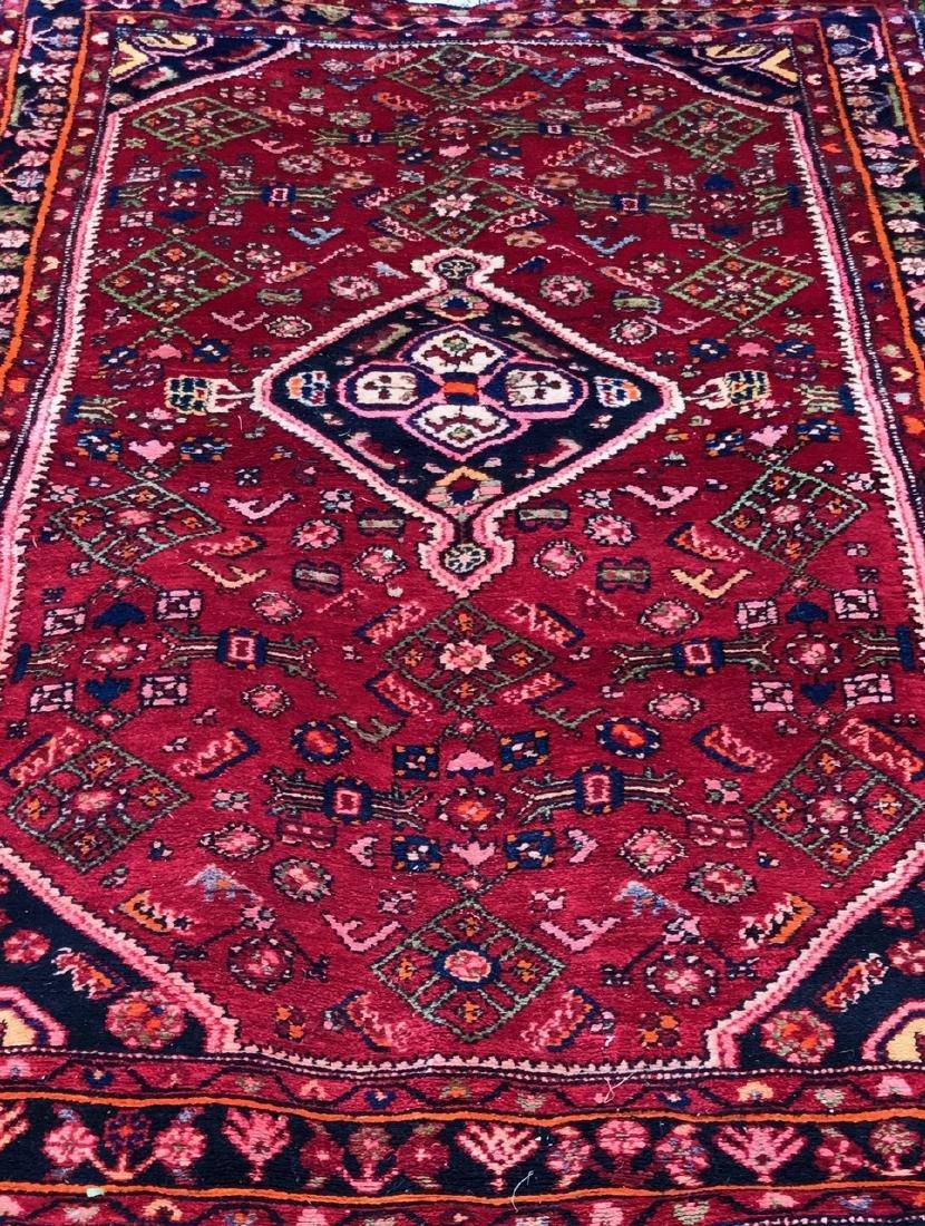 "Semi-Antique Hand Woven Persian Rug, 7'4"""