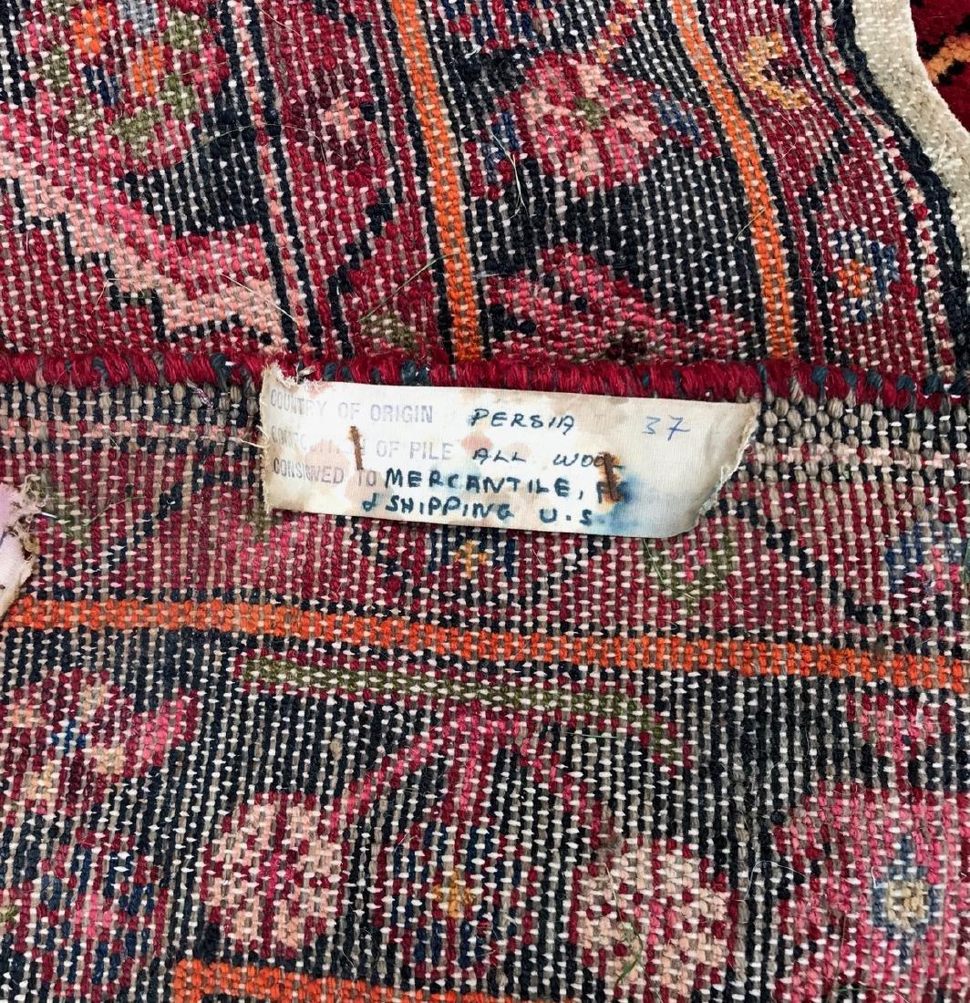 "Semi-Antique Hand Woven Persian Rug, 7'4"" - 3"