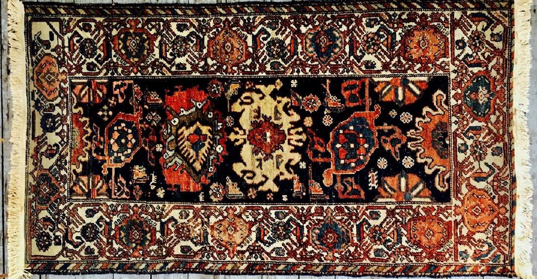 "Semi-Antique Hand Woven Persian Rug, 6'6"""