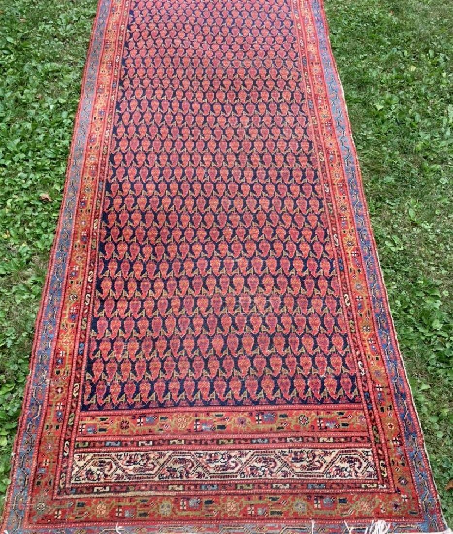 Semi-Antique Hand Woven Persian Runner, Length 9'.