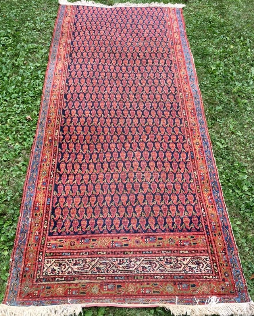 Semi-Antique Hand Woven Persian Runner, Length 9'. - 2