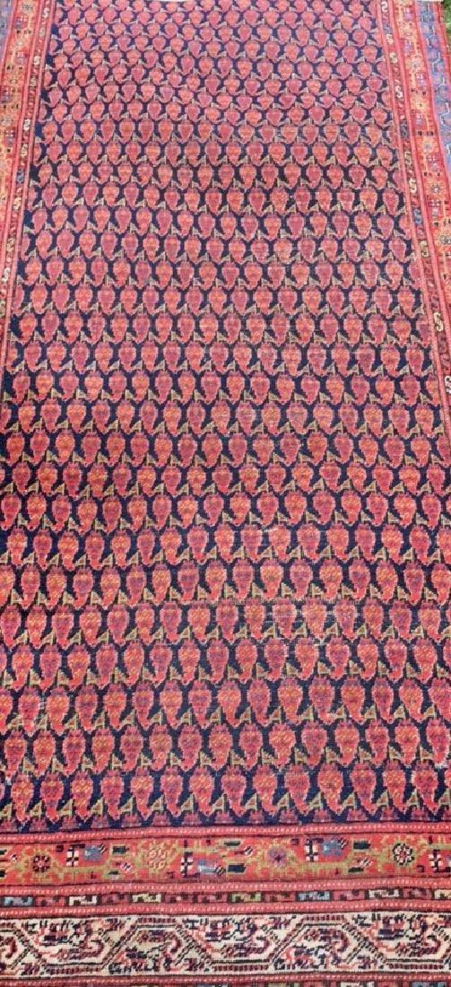 Semi-Antique Hand Woven Persian Runner, Length 9'. - 3