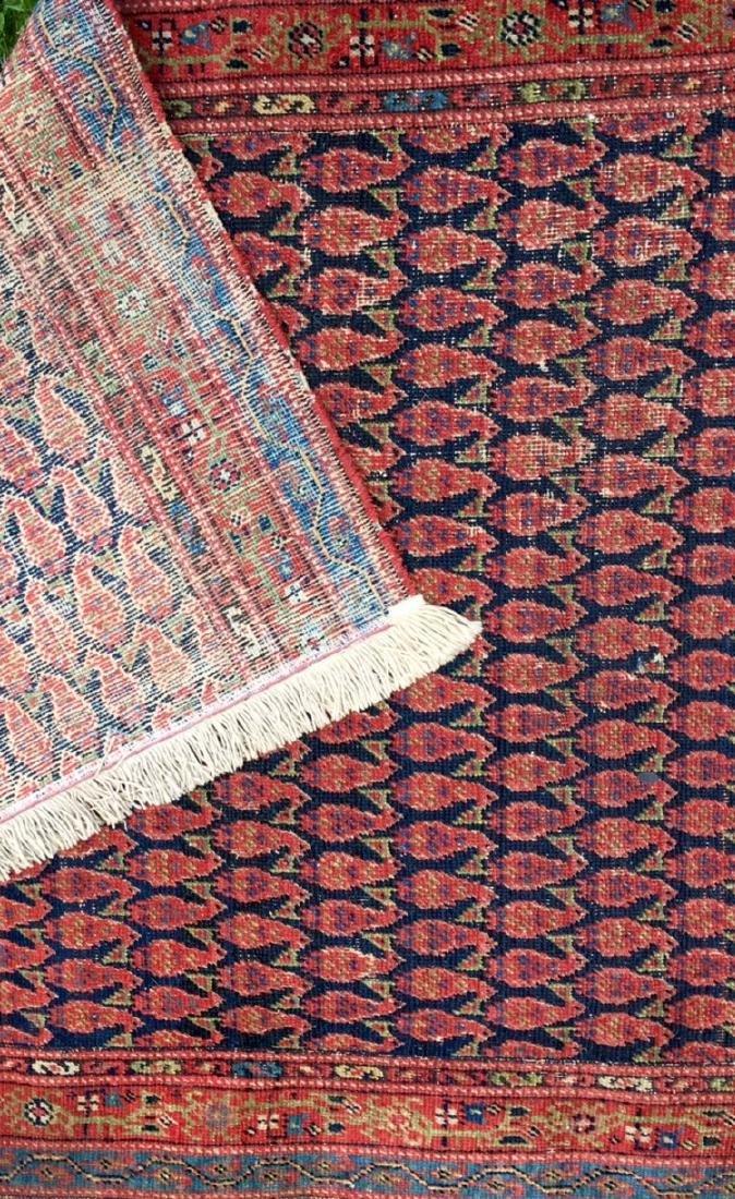 Semi-Antique Hand Woven Persian Runner, Length 9'. - 4