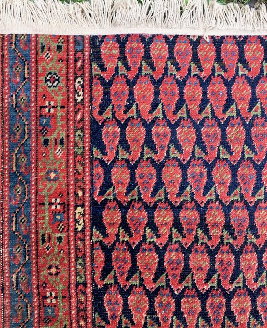 Semi-Antique Hand Woven Persian Runner, Length 9'. - 5