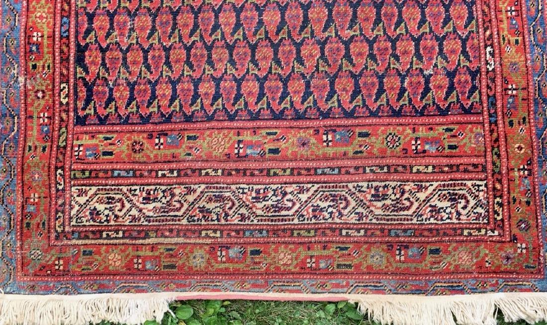 Semi-Antique Hand Woven Persian Runner, Length 9'. - 6
