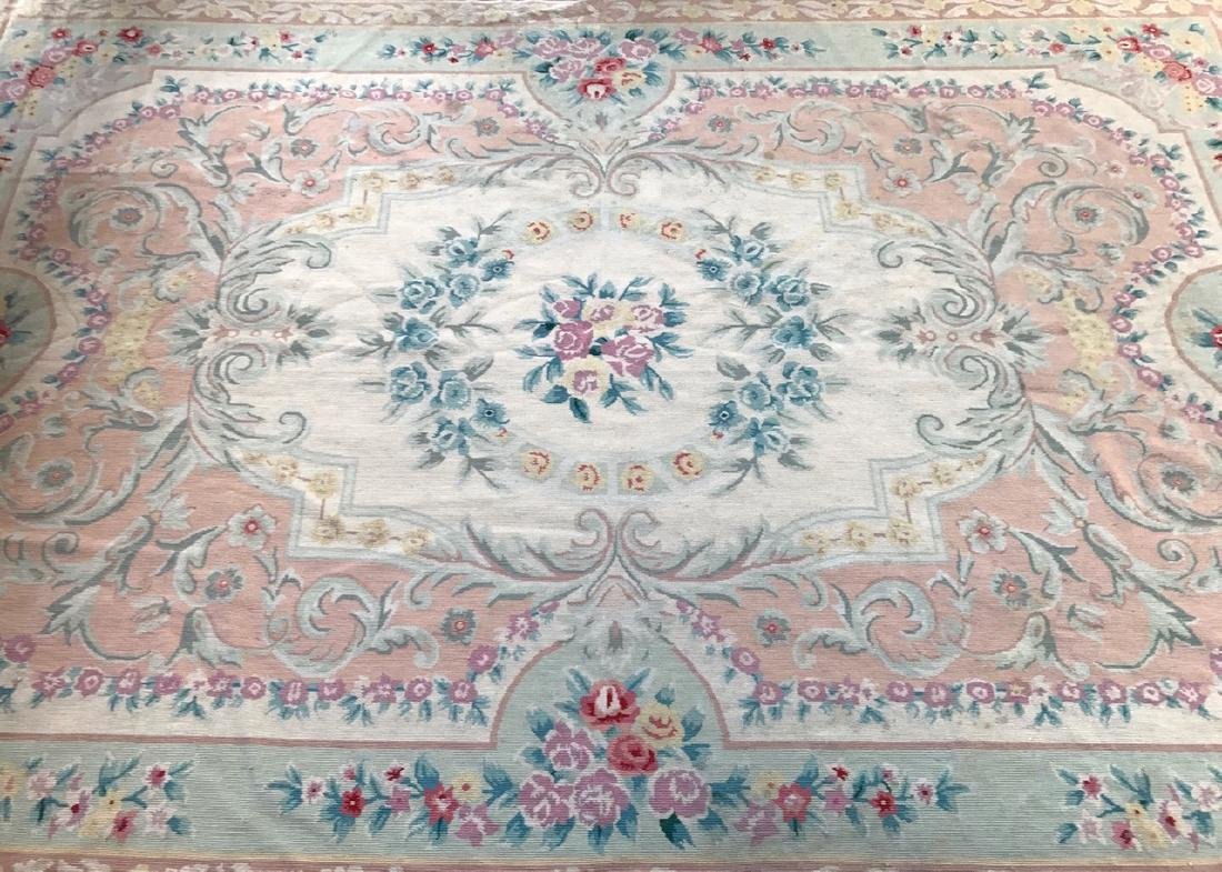 Aubusson Needle Point Rug, 9' x 6'
