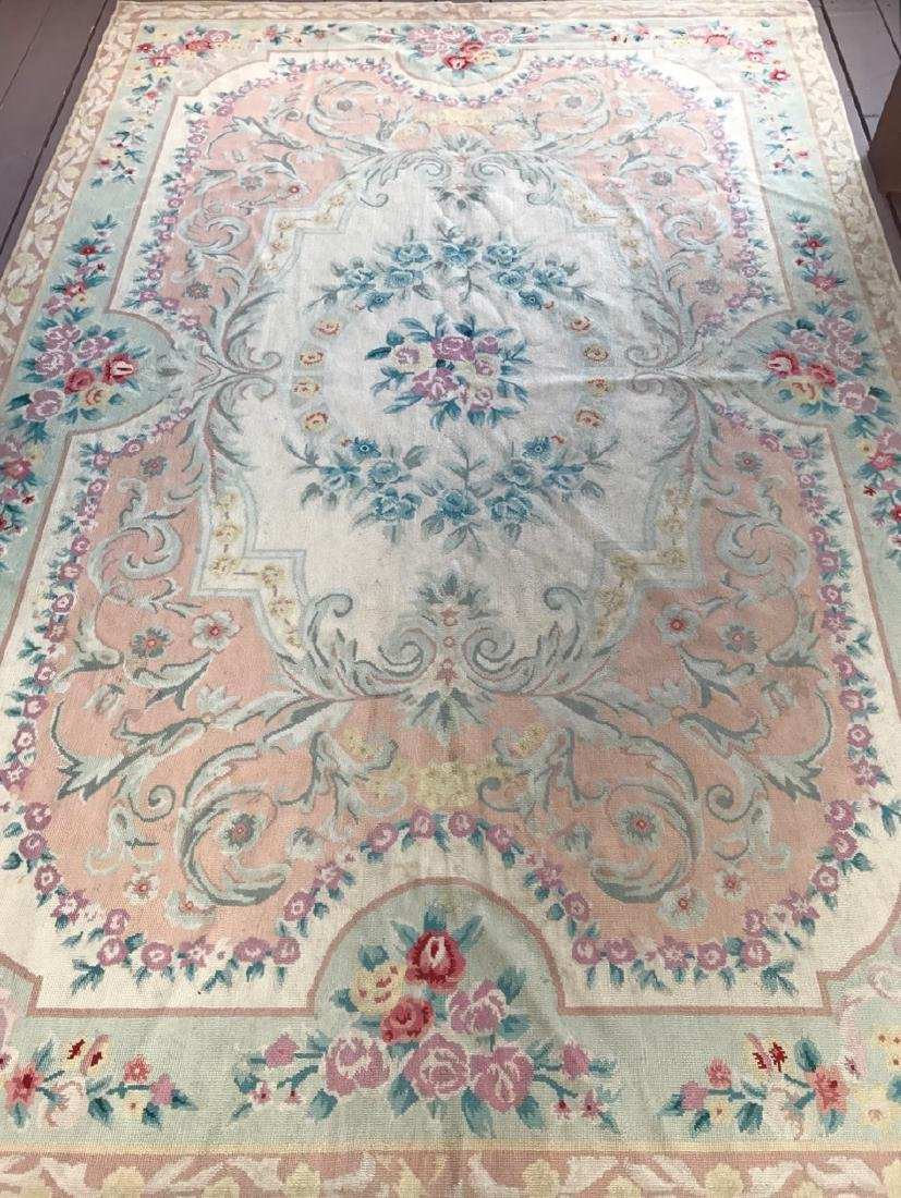Aubusson Needle Point Rug, 9' x 6' - 2