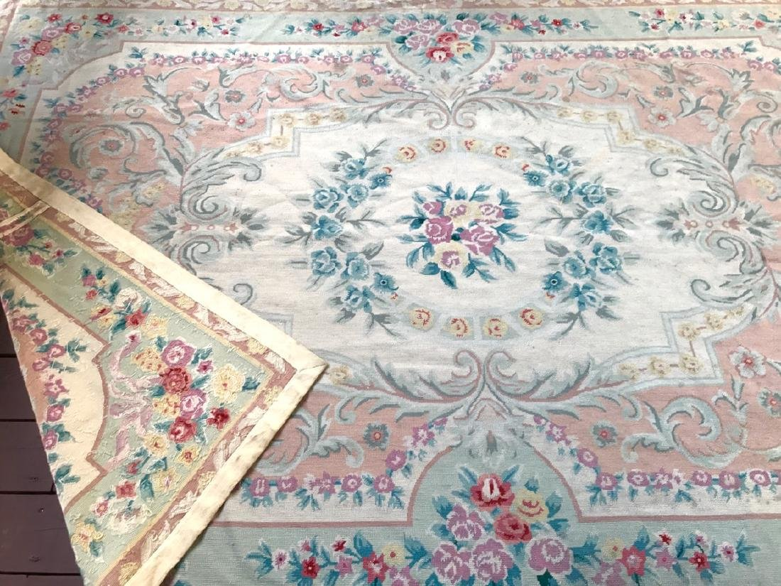 Aubusson Needle Point Rug, 9' x 6' - 3