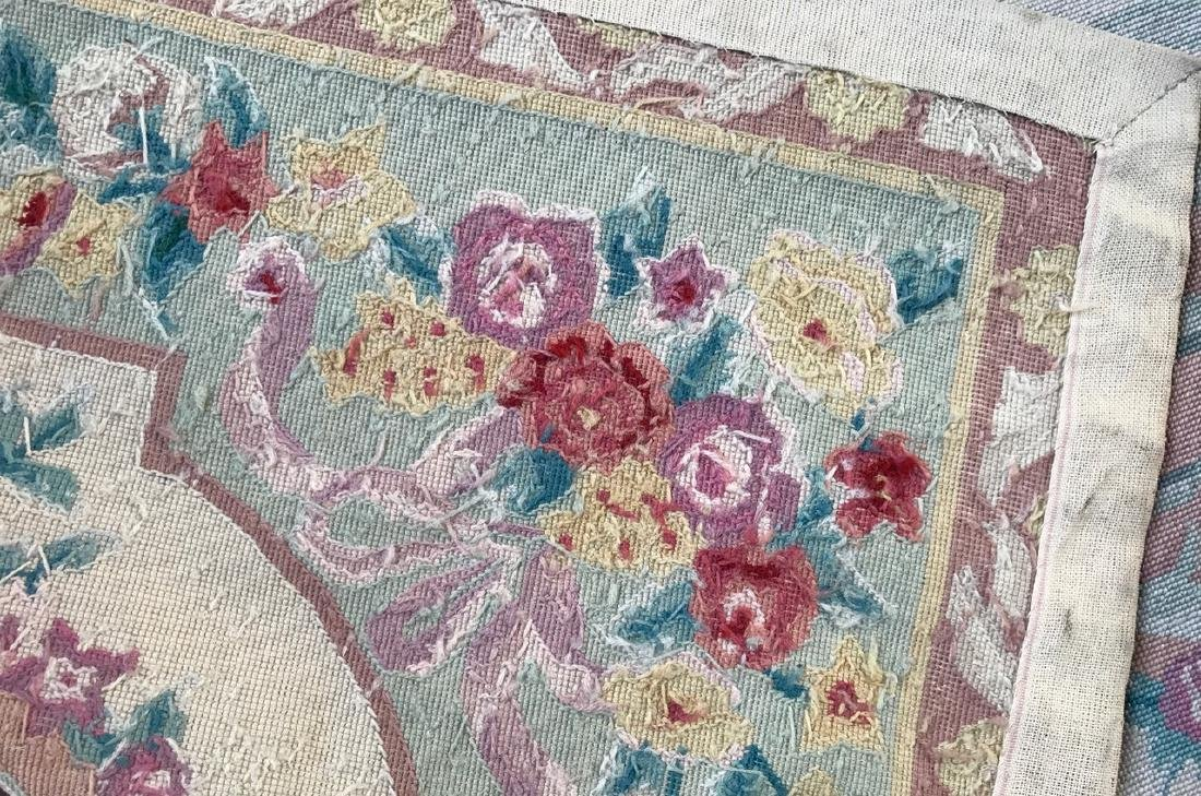 Aubusson Needle Point Rug, 9' x 6' - 4